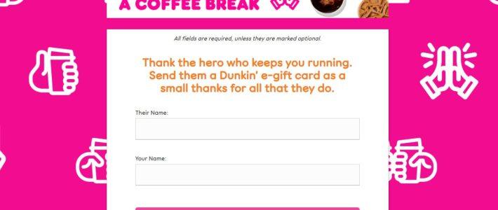 Мини-кейс № 1: Dunkin 'увеличивает продажи подарочных карт на 300%, быстро реагируя на изменение мотивации клиентов